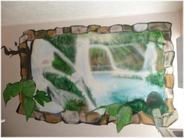 réalisation de fresque type graffiti Paysage1