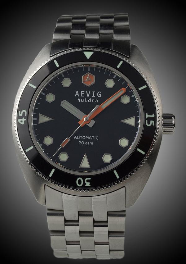 DIVER - (nouveauté) Aevig Retro diver Black_Huldra_front-600x850