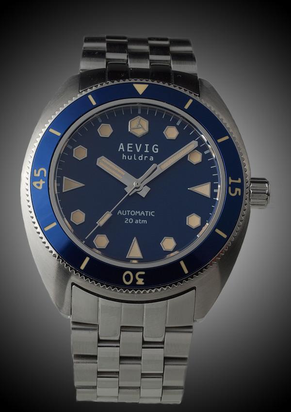 DIVER - (nouveauté) Aevig Retro diver Blue_Huldra_front-600x850