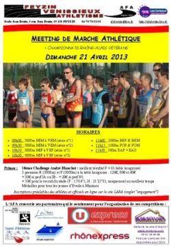 Meeting de marche athlétique de Feyzin - dimanche 21 avril Affiche_Feyzin_210413