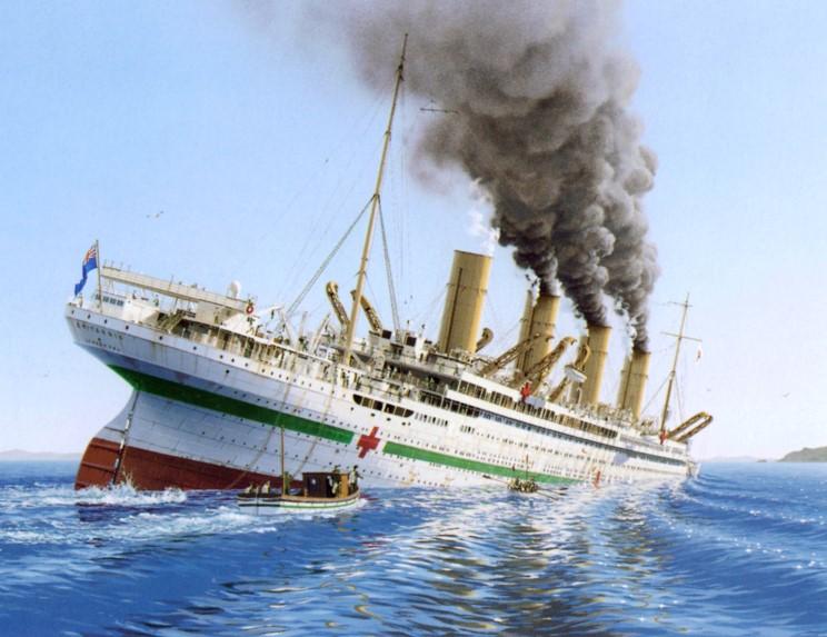 Centenaire du naufrage du Britannic Britannic_1914_naufrage_1