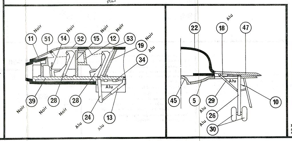 DASSAULT MIRAGE IV A 1/72ème Réf 351 Notice Mirage4-plan