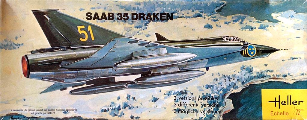 SAAB 35 DRAKEN 1/72ème Réf 255 Saab35