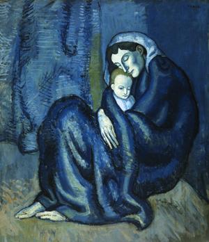 Picasso's blue period Picasso-MotherAndChildWEB