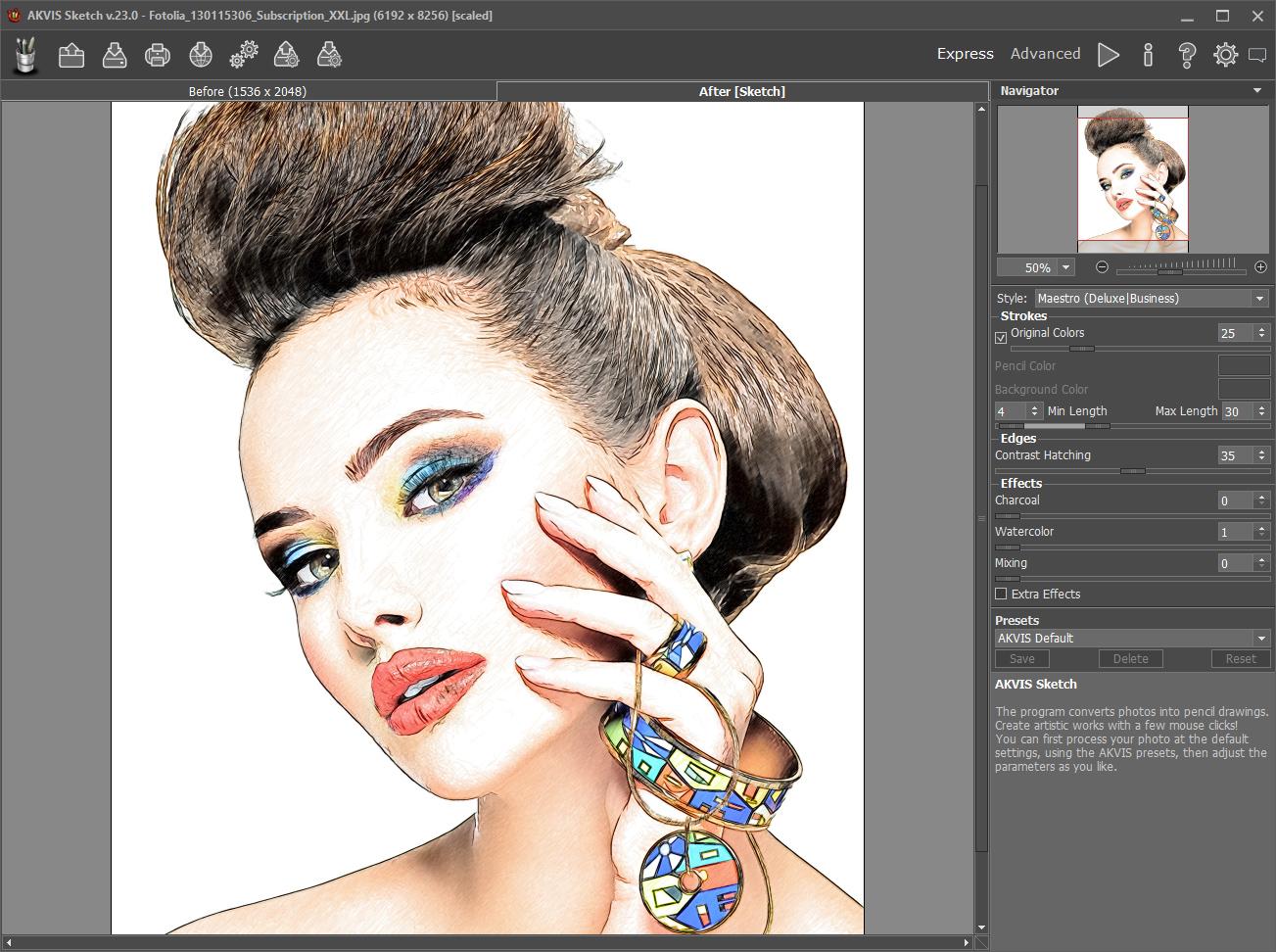 أقوى برنامج لتحويل الصور إلى صور مرسومة بخط اليد بكل إحترافية!+سعره 72$+مفعّل! Sketch-screenshot-1
