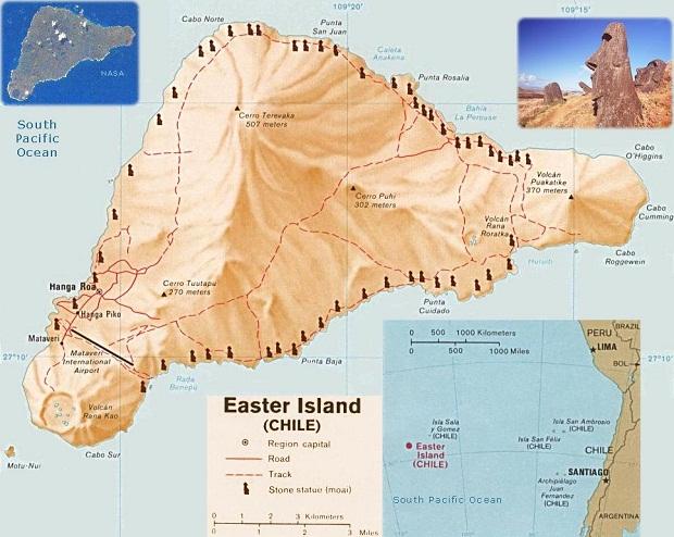 جزيرة القيامة .. الأكثر غرابة وعزلة في العالم Easter-island