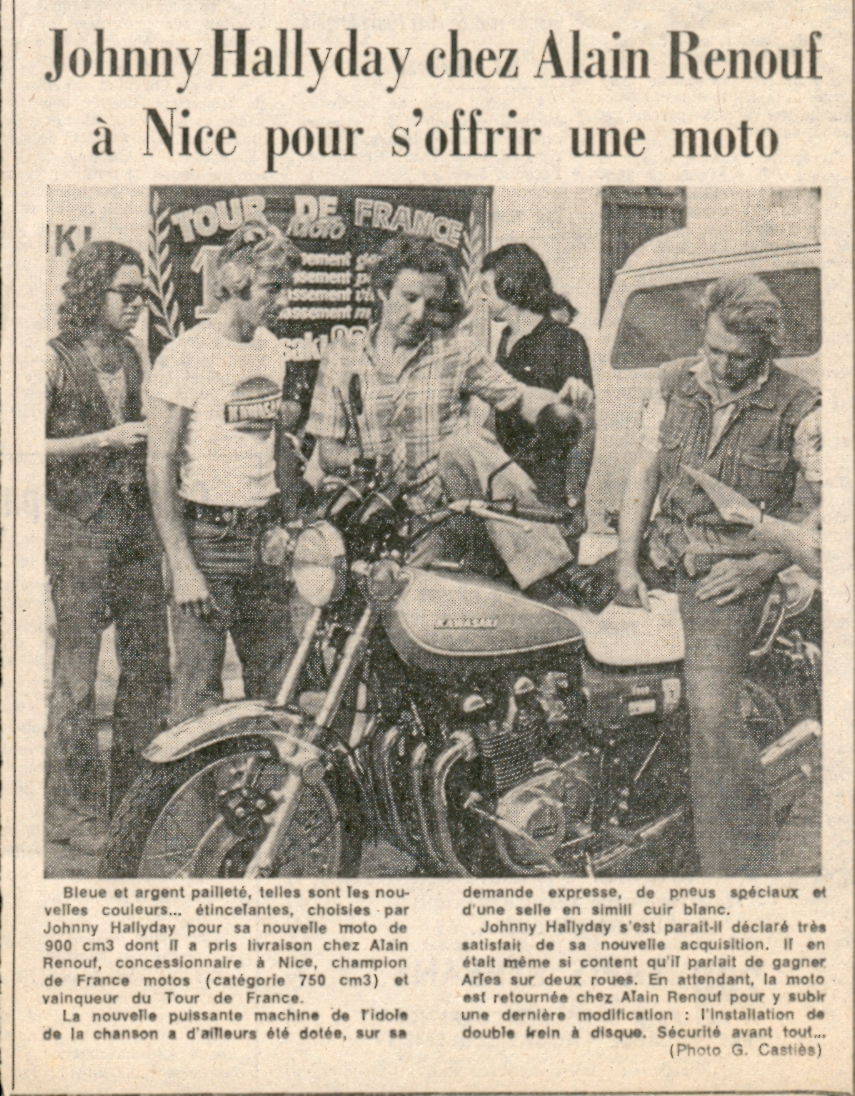 JOHNNY ET LES MOTOS ! Halliday1973