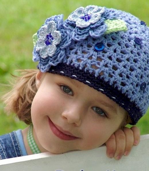 قبعات كروشيه رائعة للاطفال 9blueberryhat001bx1