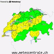 Aktuelle Unwetterwarnungen für die Schweiz