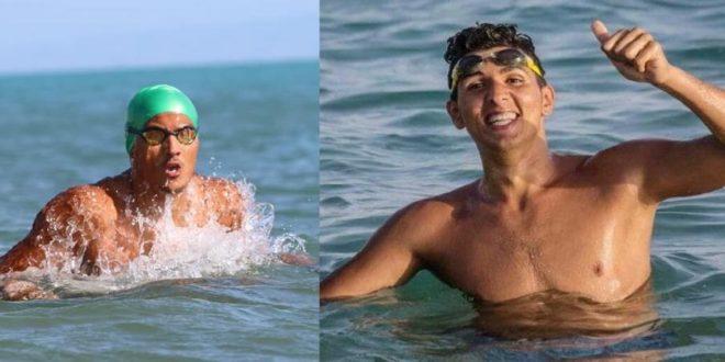 """السباحان """"الفلاح وقطاط"""" ينجحان في عبور خليج البمبة لمسافة 40 كم Scandal-iasi-5-660x330"""