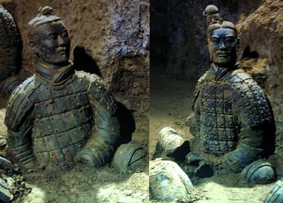 Armee de soldats en terre cuite XiAn_Soldat_lors_des_fouilles_t