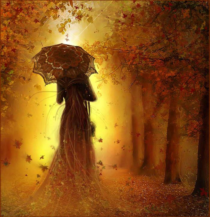 Empieza el otoño. Mujer-otoc3b1o1
