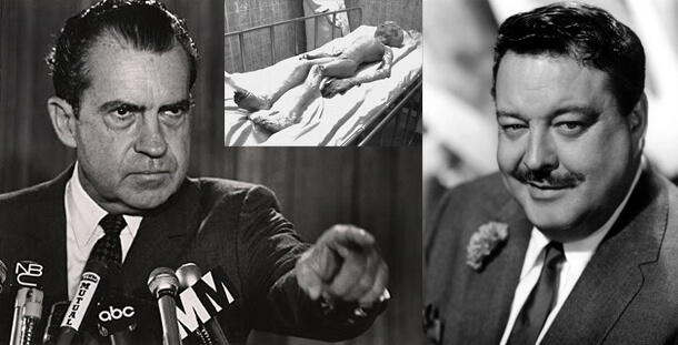 The Night Nixon Showed Jackie Gleeson Corpses of Little Men from 'Mars' And Away We Go… Nixon-Alien-Gleason
