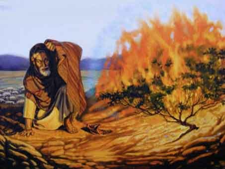 Enfant - Les trois options pour faire naître le Christ dans notre coeur d'enfant de Dieu/ Moise-et-le-buisson-ardent