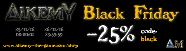 Alkemy the Game, nouvelles sorties Black-friday-bandeau