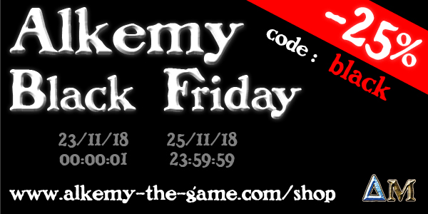 Alkemy the Game, nouvelles sorties Black-friday-bandeau-2018