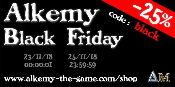 Alkemy the game : reprise, nouveautés, offres et plus encore… Black-friday-bandeau-2018