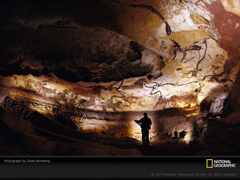 Lascaux, Arte Rupestre. Lascaux-cave-walls-438085-sw