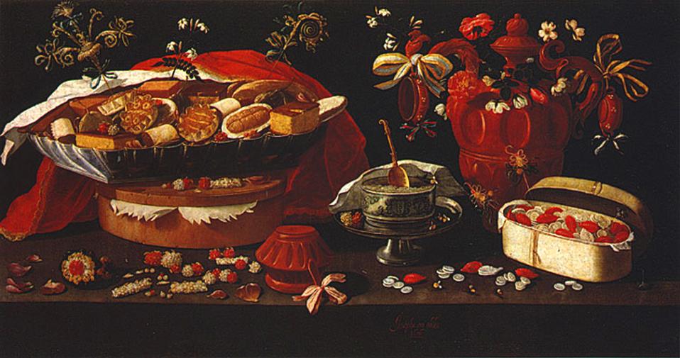 Teme i motivi u slikarstvu Josefa_de_obidos_dead_nature_with_sweets_and_barros