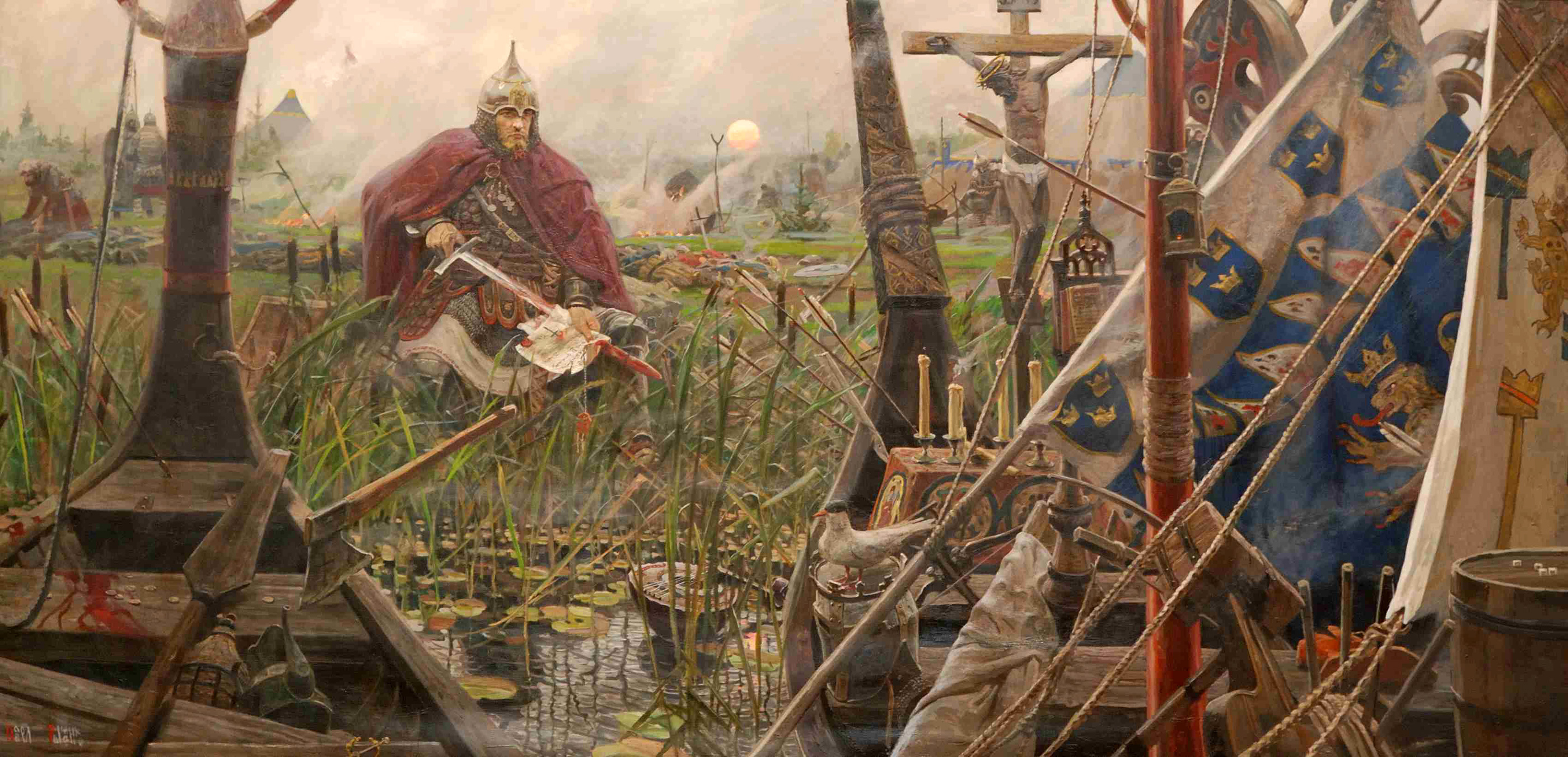 Когда должно быть стыдно... Ryzhenkov_pavel_viktorovich_17_triptych_the_sun_of_the_russian_land_battle_of_the_neva_2008_2009