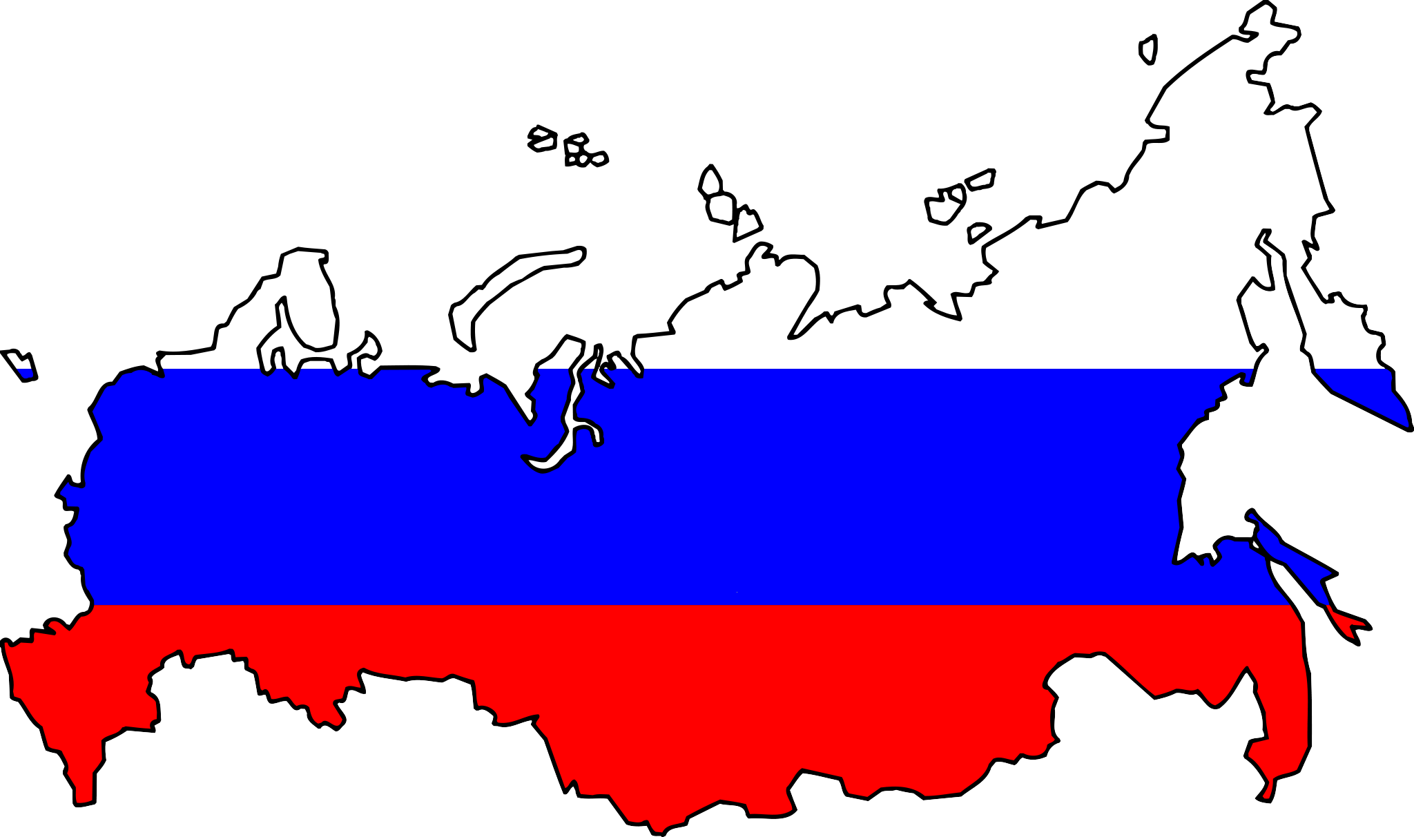 ماذا يحدث لو الصين و روسيا تحالفوا مع بعضهما  بإعلان حرب مفتوحة ؟ Russia_flag_map