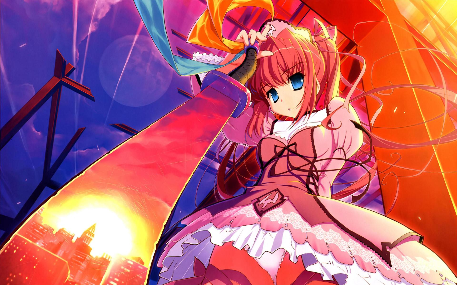 100 Wallpapers de anime HD Konachan-com-62128-akata_itsuki-blue_eyes-moon-sword-underwear-weapon