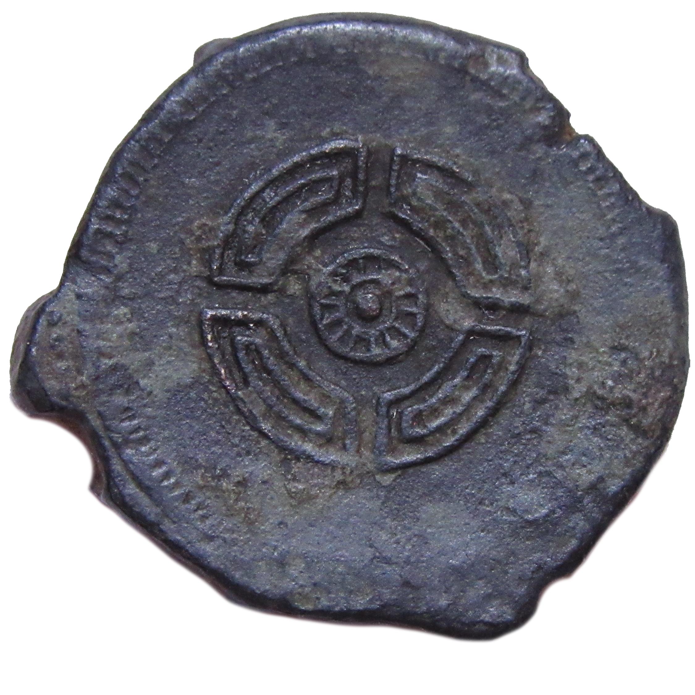 As de Lucus Augusti?, tiempos de Agusto. Escudo redondo.  Caetra2