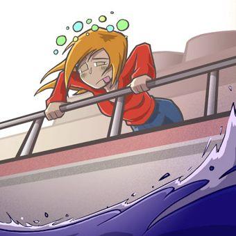 Bonne Lundi Sea_sick_railing_cartoon