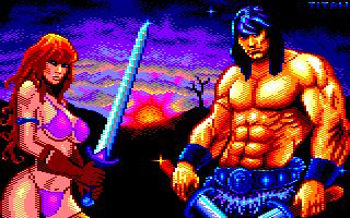 Pixel-Art sur Amstrad CPC avec MULTIPAINT BarbarianSunset