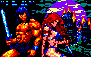 Pixel-Art sur Amstrad CPC avec MULTIPAINT BarbarianVictory_2020