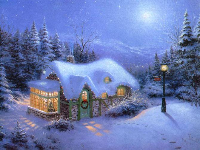 Urime Krishtëlindjet dhe Vitin e ri 2016 Thomas_kinkade