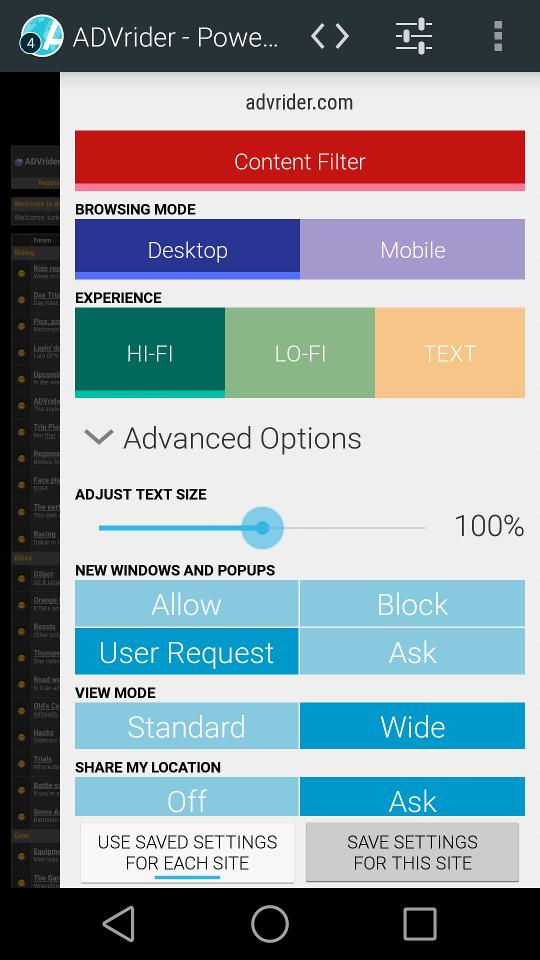 Aplikace [4.0 +] Atlas Webový prohlížeč: Ad / Soukromí filtry + materiálovém provedení RightSlide