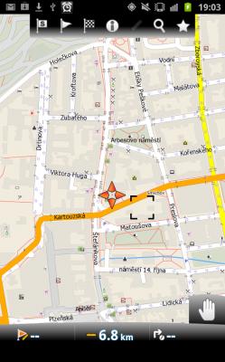 Aplikace MapFactor: GPS Navigation – další GPS zdarma Mapa-249x400