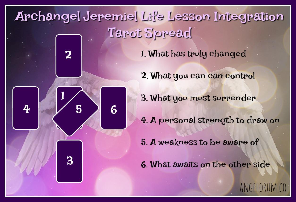 Arcángel Jeremiel Lección de vida Integración Tarot Difusión Life-Lesson-Integration-Tarot-Spread-with-Archangel-Jeremiel