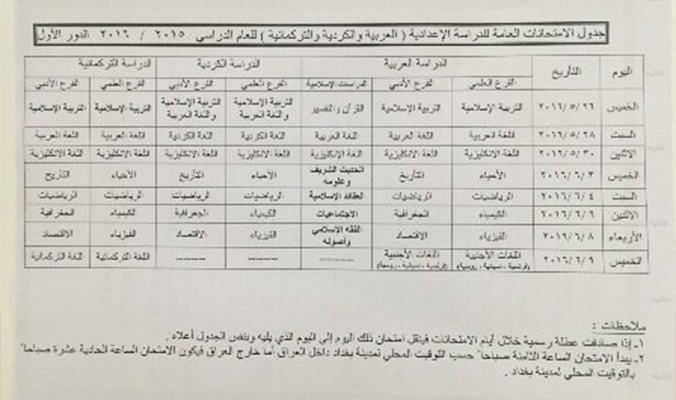 جدول الامتحانات العامة الدور الاول للصفوف المنتهية 2016 - صفحة 12 56a8a6c0764af
