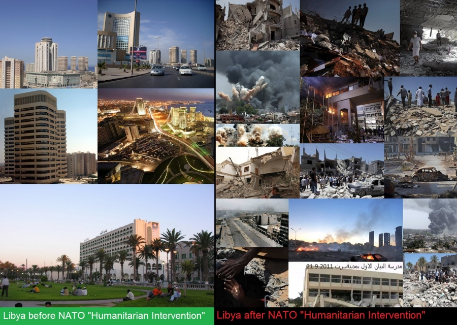 The US Helped Overthrow Libya 2011. Here's What's Happening There Now Libya-before-and-after-1-1