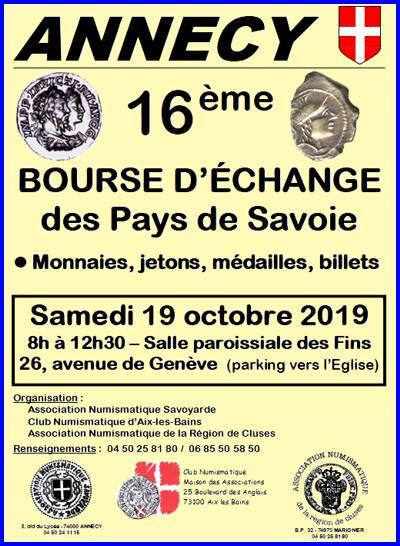 16ème bourse numismatique des Pays de Savoie 03-annecy-2019-2