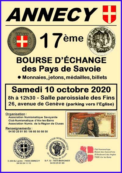 ANNECY (74) - Bourse aux Monnaies, billets - 10 octobre 2020 03-annecy-2020-1