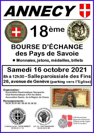 Annecy - 16 octobre 2021 - 18ème bourse numismatique 03-annecy-2021-1