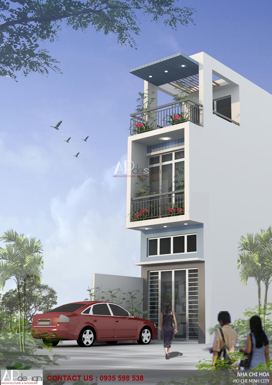 Mẫu thiết kế nhà phố lệch tầng đẹp - APdesign.vn 01-thiet-ke-nha-pho-lech-tang-3-x-16-quan-10