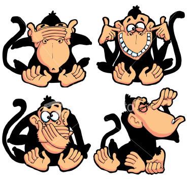 Los tres monos Sabios!!!!! Monkykys4