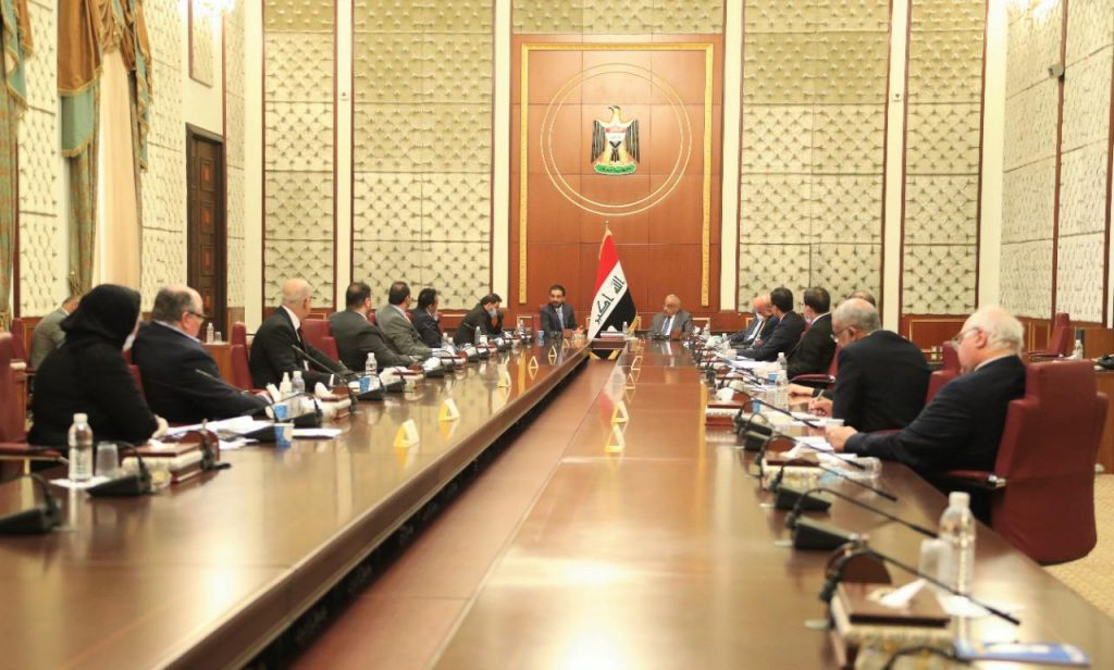 Abdul Mahdi and Halbousi hold a joint meeting to discuss economic conditions 2020-04-16-at-22.37-1-1024x616