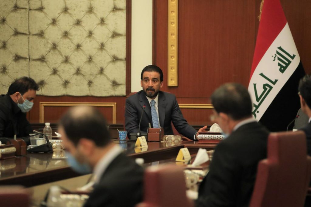 Abdul Mahdi and Halbousi hold a joint meeting to discuss economic conditions 2020-04-16-at-22.37-2-1024x682