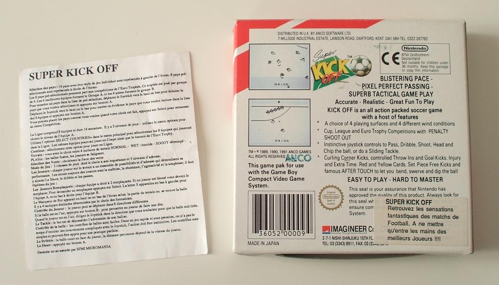 Petite collection Game Boy FR (jeu set et match) - Page 4 Kick_off_import