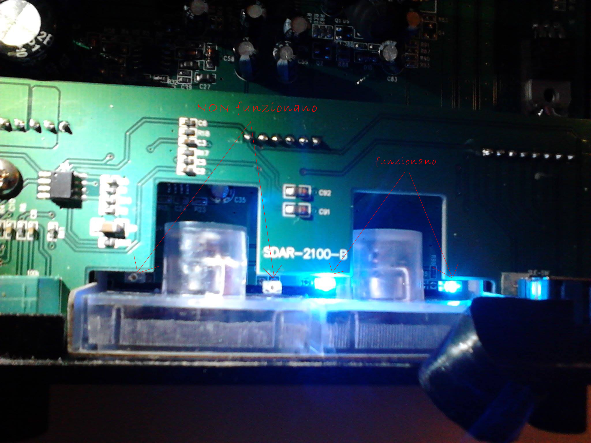 sostituzione led amplificatore Scythe Indicatore2