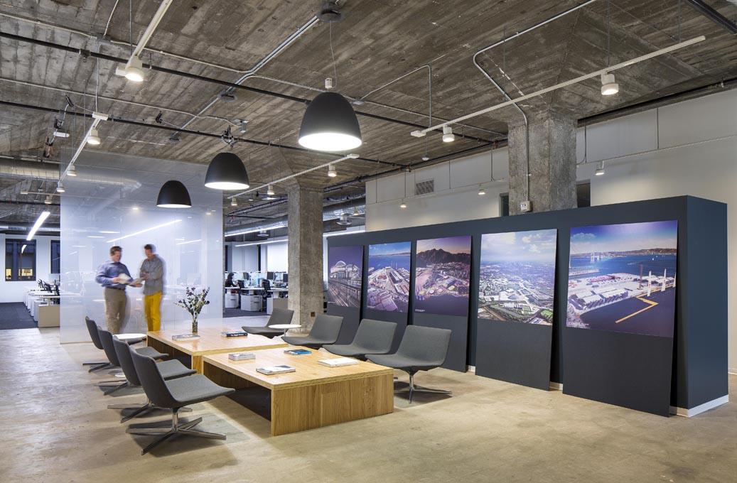 ý tưởng trang trí nội thất văn phòng làm việc độc và lạ hotrofm Thiet-ke-noi-that-van-phong-nganh-hang-khong-1