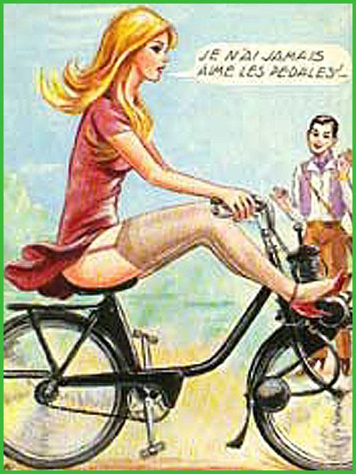 la pin up du jeudi ! - Page 3 Velo-fille-anti-pedale