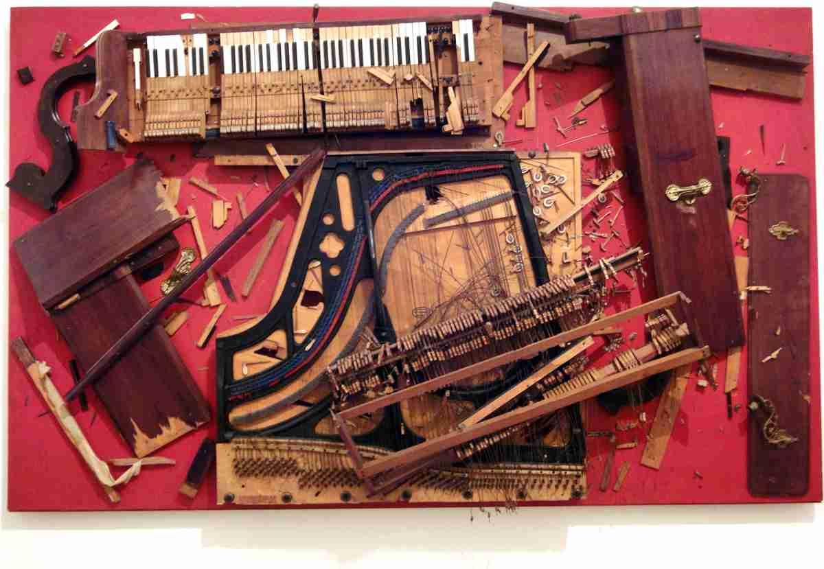 La musique dans la peinture - Page 7 Arman-chopin-s-waterloo