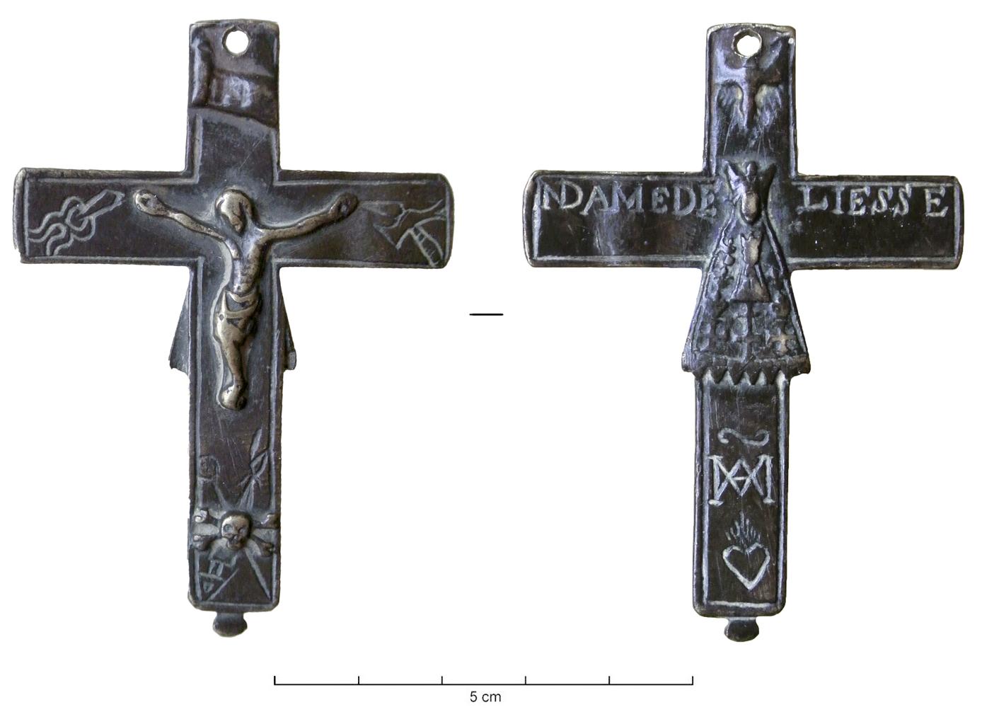 Crucifijo  bifaz  Notre Dame de Liesse, S. XVIII CRF-9012_1
