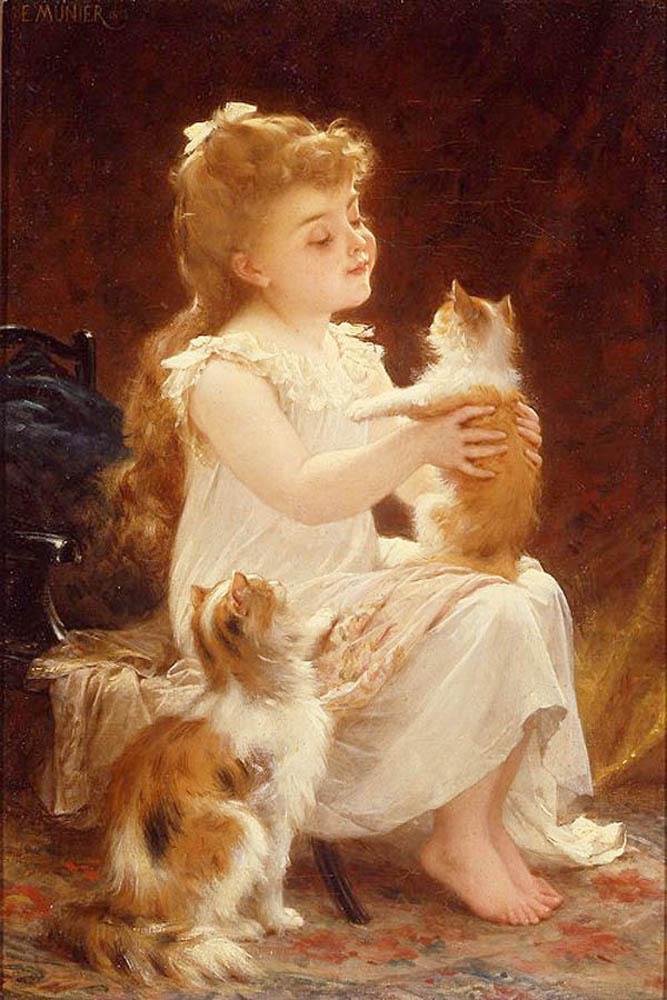 Adorables caritas de niños. 11playing-with-the-kitten-munierb